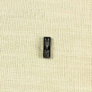 Пуговица полуцилиндр металл 2,5 см