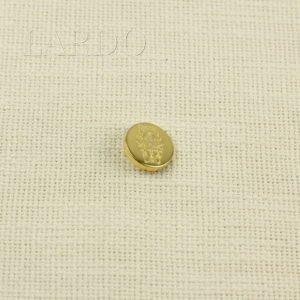 Пуговица на ножке герб металл ∅ 2,0 см золотистого цвета