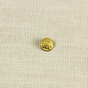 Пуговица на ножке Brioni герб металл с жёлтой эмалью ∅ 1,4 см золотистого цвета