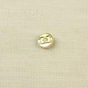 """Пуговица на ножке """"Шанель"""" металл ∅ 2,0 см золотистого цвета"""
