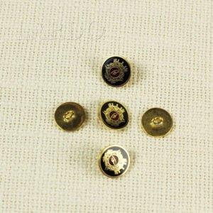 Пуговица Brioni герб металл золото с чёрной эмалью ∅ 1,5 см