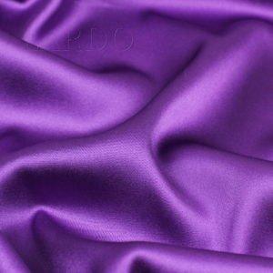 Атлас стретч шёлковый фиолетовая фуксия