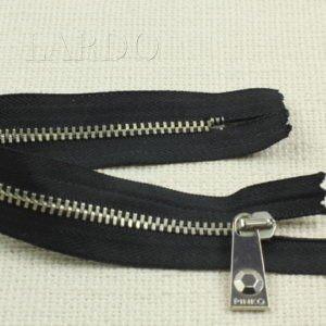 Молния PINKO, неразъёмная, однозамковая, 24 см, №3, чёрная