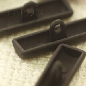 Пуговица на ножке полуцилиндр металл 4,0 см тёмный никель матовая