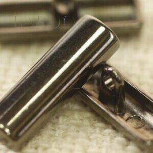 Пуговица на ножке полуцилиндр металл 2,5 см тёмный никель