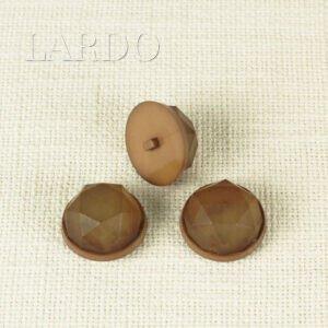 Пуговица на ножке пластик ∅ 3,0 см коричневая