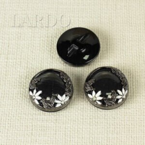 Пуговица на ножке пластик ∅ 3,3 см чёрного цвета