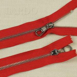 Молния Ri-Ri, неразъёмная, однозамковая, 23 см, №6, красный, шлифованная