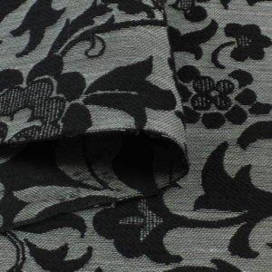 Жаккард рельефный серо-чёрный Италия Состав: хлопок 87 %, п/э 13 % Плотность ≈ 190 г/м ² Ширина 142 см