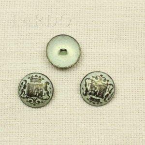 Пуговицагерб металл оксид с патиной ∅ 2,5 см