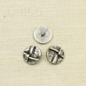 Пуговица металл темный оксид ∅ 2 см