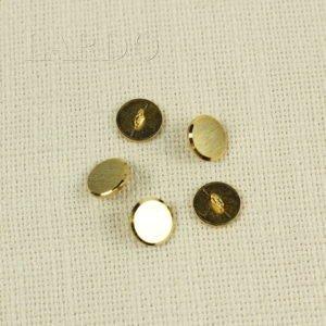 Пуговица металл золотистый ∅ 1,5 см