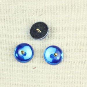 Пуговица на ножке пластик ∅ 2,1 см фиолетовая и чёрная