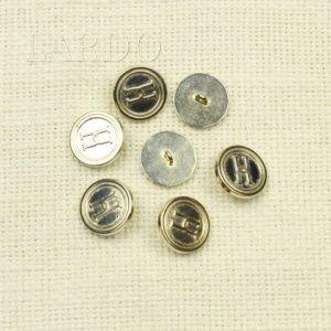 Пуговица прозрачная с золотом пластик ∅ 2,7 см