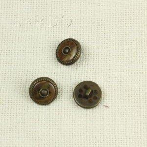 Пуговица на ножке металлпластик ∅ 2,0 см оксид коричневого цвета