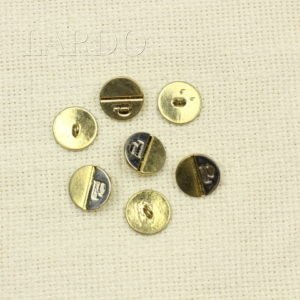 Пуговица прозрачная с золотом пластиковая ∅ 2,7 см на ножке