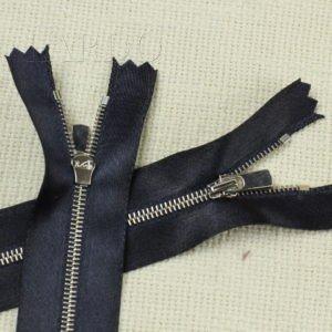 Молния, неразъёмная, однозамковая, 12 см, №3, тёмно-синяя