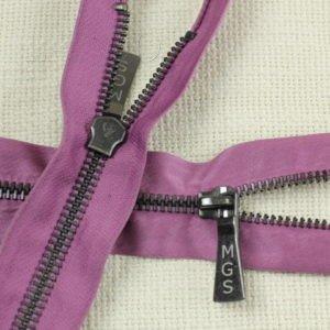 Молния UNIZIP неразъёмная, однозамковая, 14 см, №5, тёмно-розовая