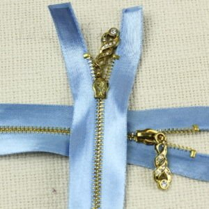 Молния, разъёмная, однозамковая, 60 см, №3, голубая