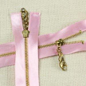Молния, разъёмная, однозамковая, 60 см, №3, розовая