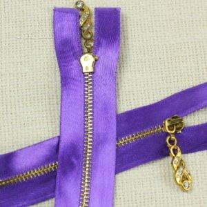 Молния, разъёмная, однозамковая, 60 см, №3, фиолетовая