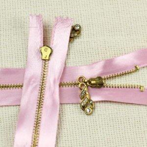 Молния, неразъёмная, однозамковая, 15 см, №3, розовая