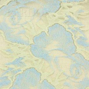 Кружево стретч цвет голубой с айвори шир. 20,5 см