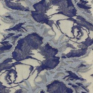 Кружево стретч сине-серое шир. 20,5 см