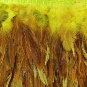 Тесьма куриное перо, белая