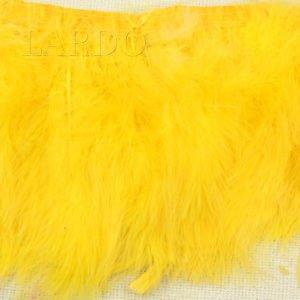 Тесьма лебяжий пух, тёмно-жёлтая