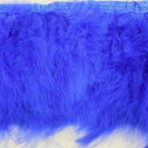Тесьма лебяжий пух, синяя
