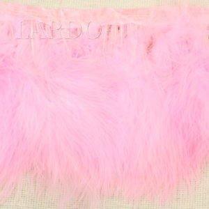 Тесьма лебяжий пух, розовая