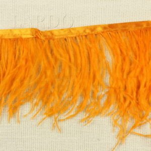 Тесьма марабу перо, белая