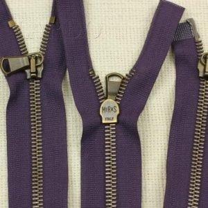 Молния MeRaS разъёмная, двухзамковая, 40 см, №5, фиолетовая