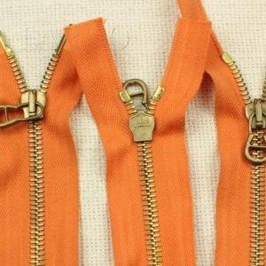 Молния MAS разъёмная, двухзамковая, 46 см, №5, оранжевая