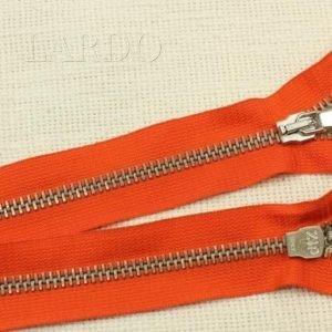 Молния ZIP разъёмная, однозамковая, 50 см, №5, оранжевая