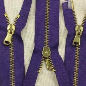 Молния разъёмная, двухзамковая, 55 см, №5, фиолетовая