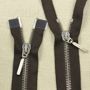 Молния ZIP разъёмная, однозамковая, 35 см, №5, серо-коричневая