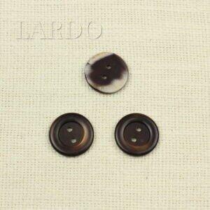 Пуговица перламутр тёмно-коричневый ∅ 2,5 см