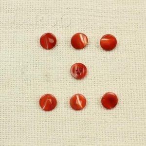 Пуговица перламутр светло-красный ∅ 1,2 см