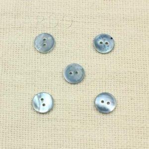 Пуговица перламутр серо-голубой ∅ 1,5 см