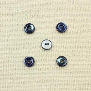 Пуговица перламутр тёмный серо-голубой ∅ 1,2 см