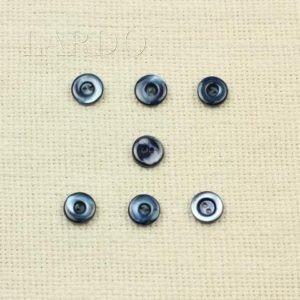 Пуговица перламутр тёмный серо-голубой ∅ 1,1 см