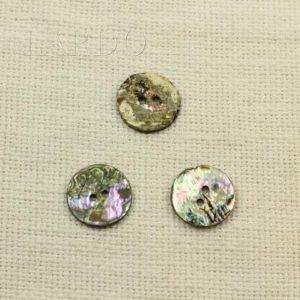 Пуговица перламутр разноцветный ∅ 2,2 см