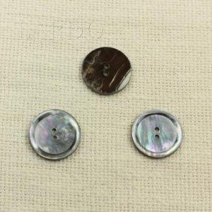 Пуговица перламутр серый ∅ 2,5 см