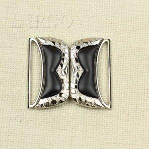Пряжка разъёмная металл/каучук чёрная с золотом 5 см х 5,5 см