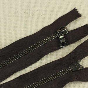 Молния Ri-Ri, неразъёмная, однозамковая, 14 см, №6, тёмно-коричневая
