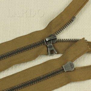 Молния Ri-Ri, неразъёмная, однозамковая, 17 см, №6, светло-коричневая