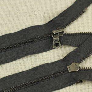 Молния Ri-Ri, неразъёмная, однозамковая, 18 см, №6, тёмно-серая