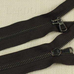 Молния Ri-Ri, неразъёмная, однозамковая, 20 см, №6, тёмно-коричневая